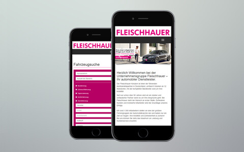 Fleischhauer Website Mobile Phone