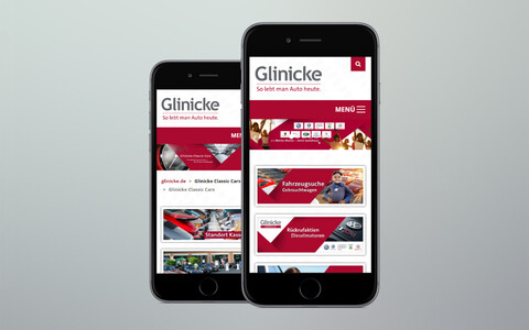 Glinicke Website Mobile Phone