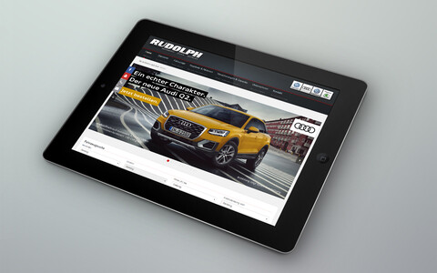 Autohaus Rudolph Website Tablet