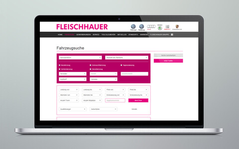 Fleischhauer Website Laptop