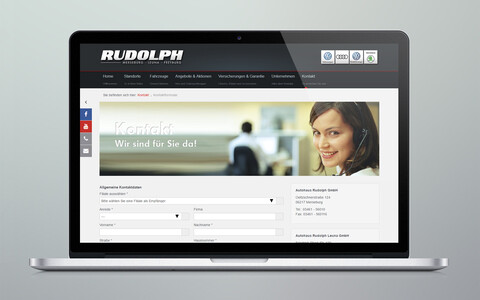 Autohaus Rudolph Website Laptop