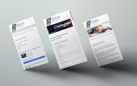 Riess Gruppe Website Mobile Phone